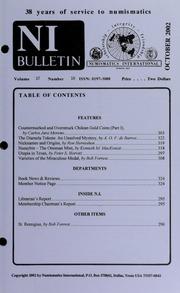Numismatics International Bulletin, Vol. 37, No.10