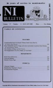 Numismatics International Bulletin, Vol. 37, No.11