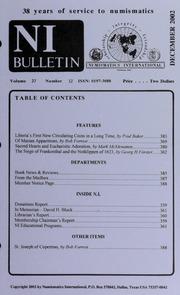 Numismatics International Bulletin, Vol. 37, No.12