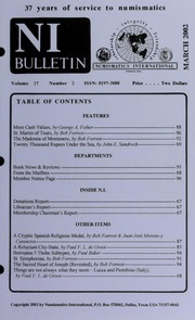 Numismatics International Bulletin, Vol. 37, No.3