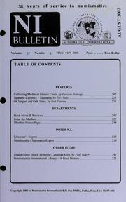 Numismatics International Bulletin, Vol. 37, No.8