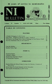 Numismatics International Bulletin, Vol. 38, No.2