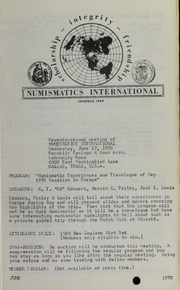Numismatics International Bulletin, Vol. 4, No.6