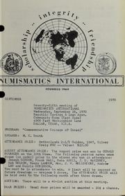Numismatics International Bulletin, Vol. 4, No.9