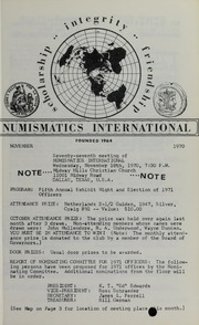 Numismatics International Bulletin, Vol. 4, No.11
