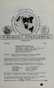 Numismatics International Bulletin, Vol. 4, No.12