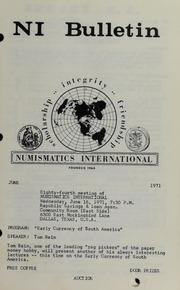 Numismatics International Bulletin, Vol. 5, No.6