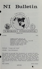 Numismatics International Bulletin, Vol. 5, No.10