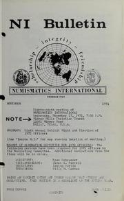 Numismatics International Bulletin, Vol. 5, No.11