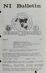 Numismatics International Bulletin, Vol. 5, No.12