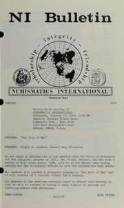 Numismatics International Bulletin, Vol. 6, No.1