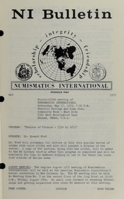 Numismatics International Bulletin, Vol. 6, No.5