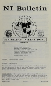 Numismatics International Bulletin, Vol. 6, No.6