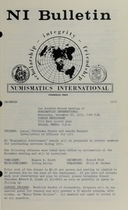 Numismatics International Bulletin, Vol. 6, No.12