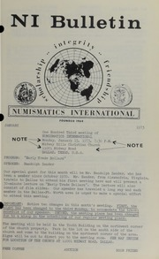 Numismatics International Bulletin, Vol. 7, No.1
