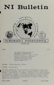 Numismatics International Bulletin, Vol. 7, No.3