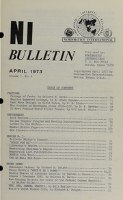 Numismatics International Bulletin, Vol. 7, No.4