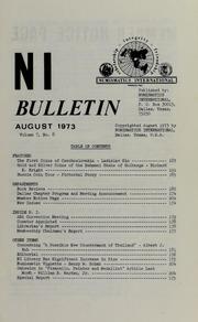 Numismatics International Bulletin, Vol. 7, No.8