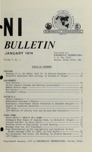 Numismatics International Bulletin, Vol. 8, No.1