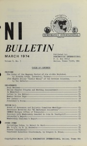 Numismatics International Bulletin, Vol. 8, No.3