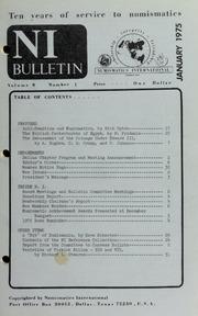 Numismatics International Bulletin, Vol. 9, No.1