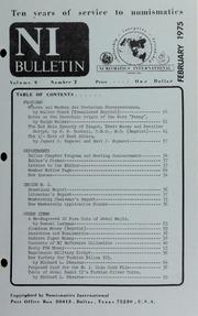 Numismatics International Bulletin, Vol. 9, No.2