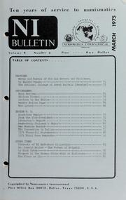 Numismatics International Bulletin, Vol. 9, No.3