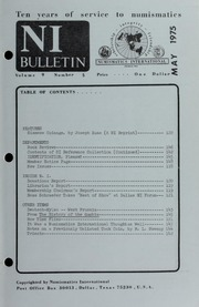 Numismatics International Bulletin, Vol. 9, No.5