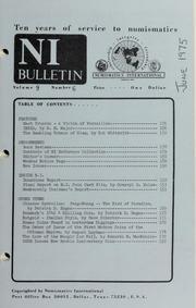 Numismatics International Bulletin, Vol. 9, No.6