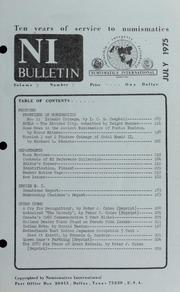Numismatics International Bulletin, Vol. 9, No.7