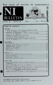 Numismatics International Bulletin, Vol. 9, No.9