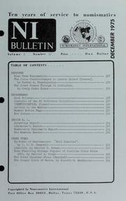 Numismatics International Bulletin, Vol. 9, No.12