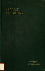 Occult Chemistry Clairvoyant Observations On The Chemical Elements