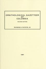 Ornithological Gazetteer of Columbia