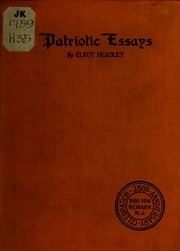 Patriotic Essays  Headley Elroy  Free Download Borrow And  Patriotic Essays  Headley Elroy  Free Download Borrow And Streaming   Internet Archive