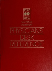 Physiciansu0027 Desk Reference 2006 : Montvale, NJ : Thomson PDR : Free  Download, Borrow, And Streaming : Internet Archive
