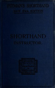 Pitman S Shorthand Instructor A Complete Exposition Of Sir Isaac
