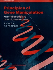 Principles Of Gene Manipulation An Introduction To Genetic