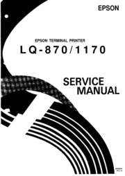 epson lq 870 lq 1170 service manual free download borrow and rh archive org 1170 Numbers cub cadet 1170 service manual