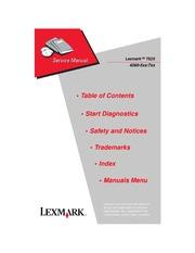 lexmark printer service manuals
