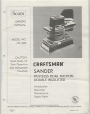 craftsman sander manuals