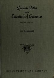 Spanish Verbs And Essentials Of Grammar Ramboz Ina W Free