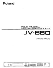 roland jv 880 owner s manual free download borrow and streaming rh archive org roland jv-880 specifications roland jv-880 service manual