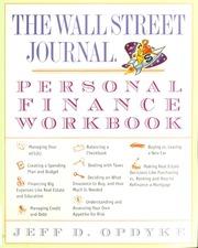 the wall street journal personal finance workbook jeff d opdyke