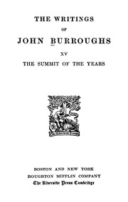 john burroughs great essays in science Best american essays, best american science and nature writing,  his  awards include the john burroughs nature essay award, 2000,.