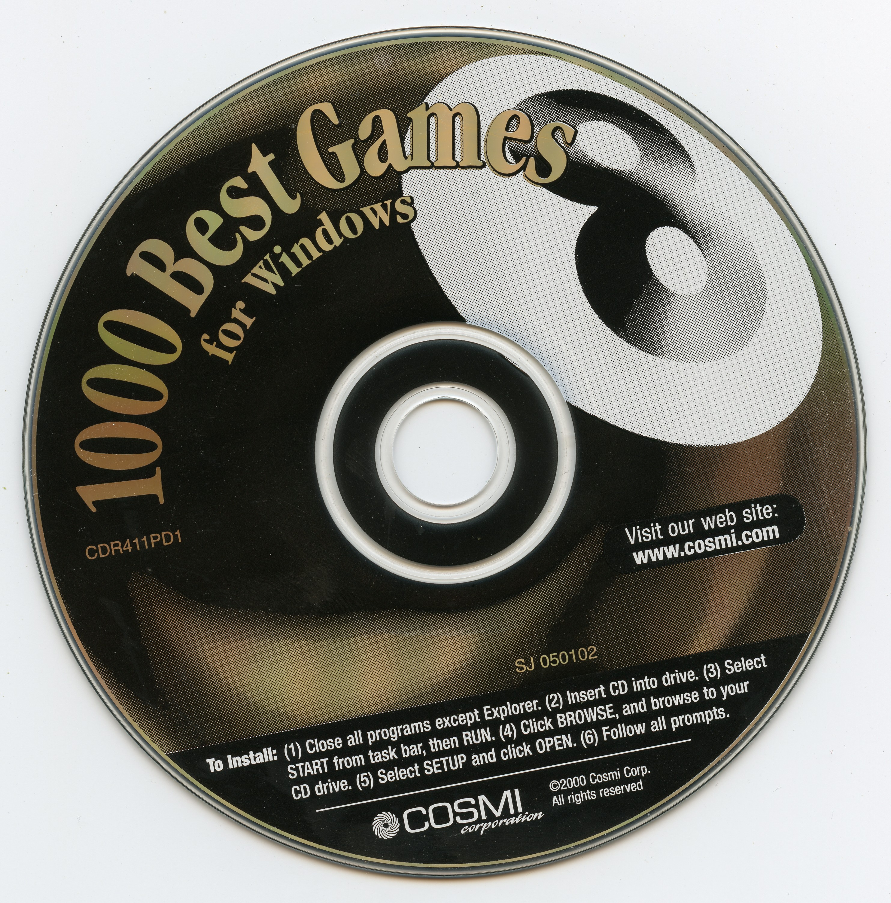 1000 Best Games for Windows (CDR411PD1) (COSMI) (2000