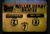1951 - Roller Derby - the Westerners vs the Pan-Jets