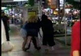 Still frame from: Bull Busters. Violent Women