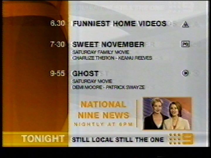 Channel Nine Perth - Saturday/Yellow Lineup (20 8 2005)