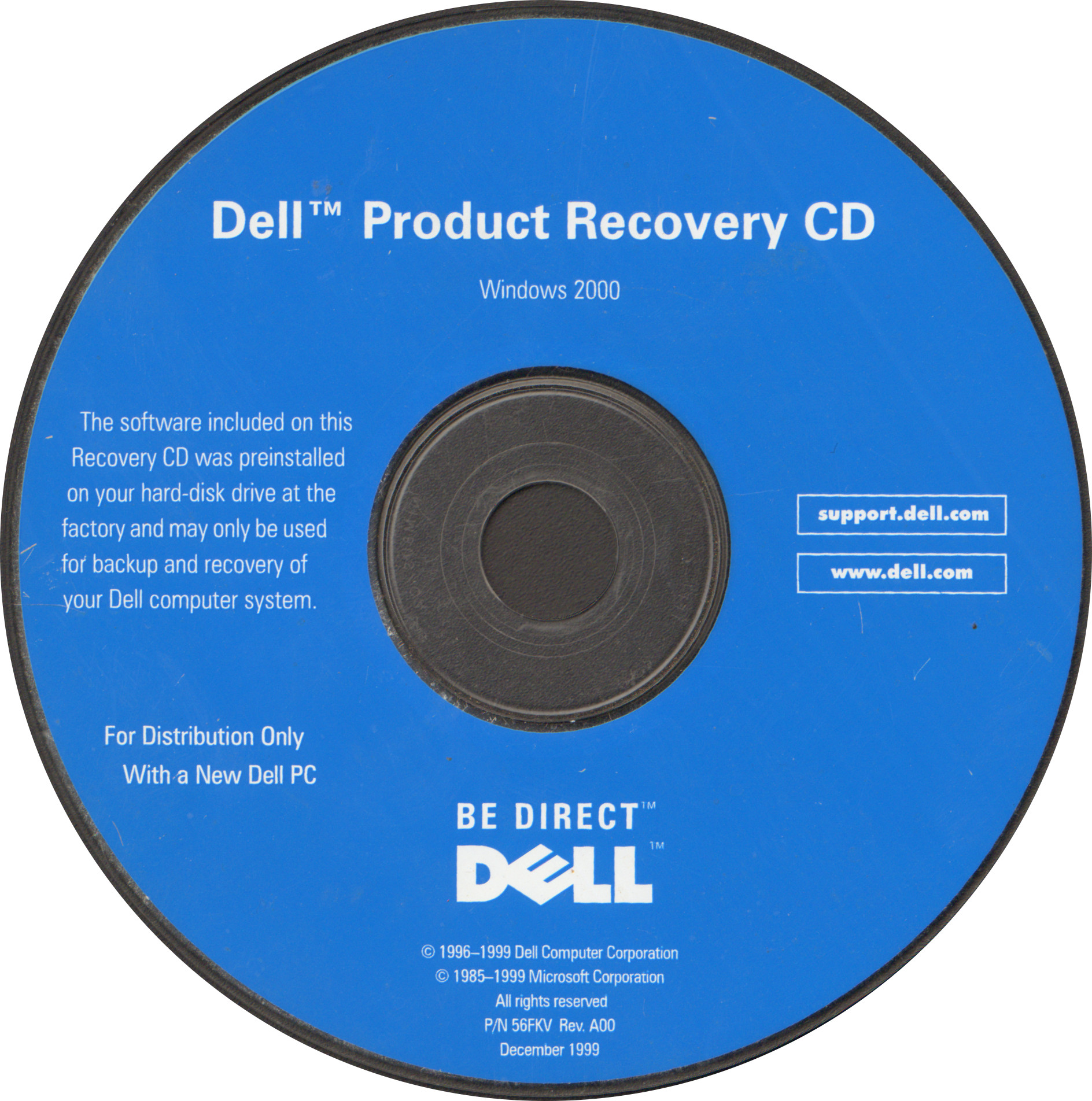 Dell Product Recovery CD (Windows 2000) : Dell : Free